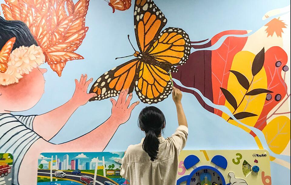 [校园墙绘]郑州市盲聋哑学校