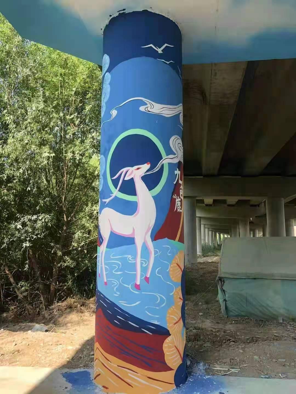 高架桥彩绘国潮中国龙