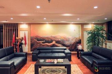 [办公室墙绘]张家港某集团会客厅国画
