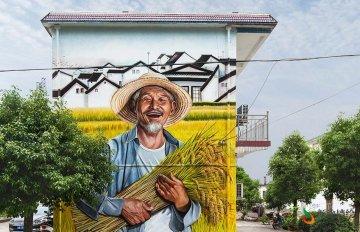 [美丽乡村墙画]芜湖六郎镇新农村墙绘